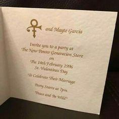 Prince & Mayte wedding invitation