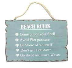 "Wooden ""Beach Rules"" Sign Beachcombers http://www.amazon.com/dp/B00BOALSNI/ref=cm_sw_r_pi_dp_ITmzwb15MPT3X"