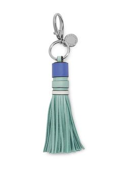 Tassel Key Fob - Attach this leather key FOB to your keychain or clip it onto your bag to add a whimsy accent. Leather Keychain, Leather Wallet, Leather Bag Design, Passementerie, New Handbags, Small Leather Goods, Leather Tassel, Leather Accessories, Leather Craft