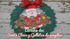 Corona de Santa Claus y Galletas de jengibre