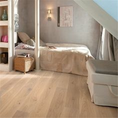 Parkett Boen Pop Mattlakkert Hvit Eik 1-Stav EIHD42FD Natural Living, Flooring, Pure Products, Bedroom, Live, Furniture, Home Decor, Boden