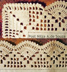 New crochet granny square pattern for boys yarns ideas Crochet Edging Patterns, Crochet Lace Edging, Crochet Motifs, Granny Square Crochet Pattern, Crochet Borders, Crochet Squares, Crochet Granny, Crochet Doilies, Crochet Stitches