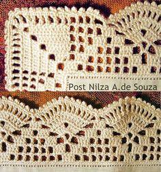 Luty Artes Crochet: barrados: