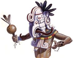 """""""A Maya Indian wears a mask that reflects a deity"""", Terry W. Rutledge"""