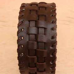 Brown Leather Cuff Bracelet for Men