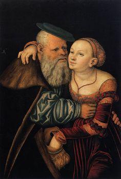 Cranach (the Elder) The Ill-Matched Lovers  1531  Tempera on wood  Akademie der bildenden Künste, Vienna