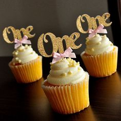 New 10/6 Pcs One Year Birthday Cupcake Toppers 1st Party Decorations Boy Girl I AM ONE Year Gold 1 Anniversary Paper Supplies -in Cake Decorating Supplies from Home & Garden on Aliexpress.com | Alibaba Group