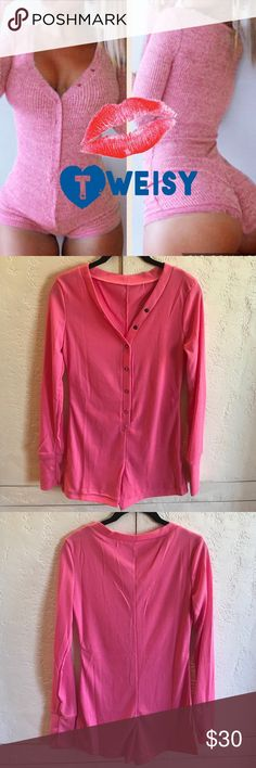 🆕 PINK Long Sleeved Ribbed Romper PINK sexy long sleeved romper. Super soft! V-Neck &a button front. Small fits 0-2, Med fits 4-6, Large fits 8-10, XL fits 12-14. Please ask questions prior to purchase to ensure proper fit. I'm happy to answer any you may have. Ships brand new W/O tags in bag. BLUE also available. Pants Jumpsuits & Rompers