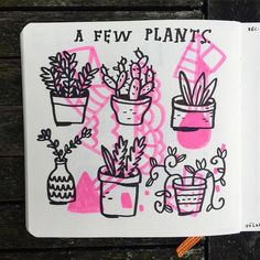 A few plants #sketchbook #volksen by mikelowerystudio
