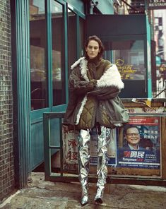 """fashion-boots: """"Jane Moseley in 'Chinatown' by Michelle Cameron in Hyea W. Kang images for Vogue Korea June Hair by Brydon Nelson; Fashion Boots, Fashion Art, Editorial Fashion, Fashion Design, Fashion 2016, Fashion Photography Inspiration, Style Inspiration, Balenciaga, Crotch Boots"""