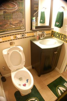 My Packers Man Cave aka The Drew Cave aka Packer Heaven! Ummm actually my mom has more in her bathroom lol