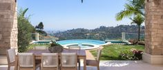 Casa Lago Bel Air Luxury Real Estate 1940 Bel Air Rd Bel Air CA 90077 Day View from outside Table