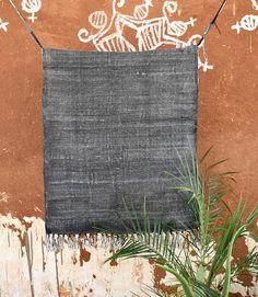 Large 8x10 ft Black Cotton Rug Carpet kilim Modern Rug