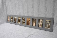 9 letter name Alphabet photography barn wood framed 9 letter