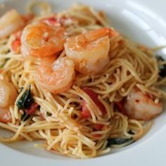 Delicious and insanely easy Shrimp Scampi