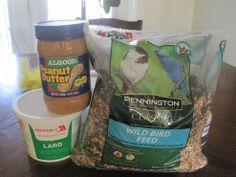 Follow this recipe to make tasty treats to  feed the birds.