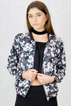 Gigi Zip Thru' Bomber Jacket Kimono Top, Bomber Jacket, Zip, Jackets, Collection, Women, Fashion, Down Jackets, Moda
