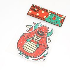 HEYKIDS MONSTER PALS STICKER PACK 2016 available now!  DESCRIPTION Removable Without Residue High quality White vinyl material Weather resistant Water-proof Each sticker is around 4 inch by 5 inch 1 order is a pack of 3 different monster stickers