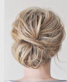 Low messy chignon #hair