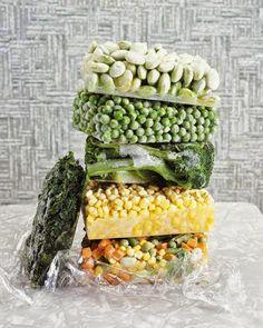 como congelar frutas y verduras