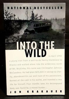 Into the Wild by Jon Krakauer 1997 Paperback book