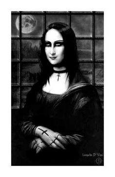Omg this is Mona Lisa as a goth!