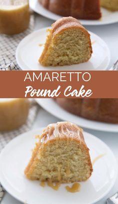 Cake Mix Recipes, Pound Cake Recipes, Cupcake Recipes, Cupcake Cakes, Dessert Recipes, Cupcakes, Amaretto Pound Cake Recipe, Patterned Furniture, Easy Pie