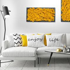 Kombinieren Sie Moosbilder passend zu Ihrer Einrichtung. Love Seat, Couch, Furniture, Home Decor, Settee, Decoration Home, Sofa, Room Decor, Home Furnishings