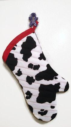 Oven Mitt ManSized Cow Print by TheGoodOleDays on Etsy