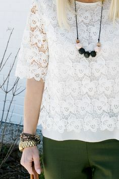 lace spring fashion look