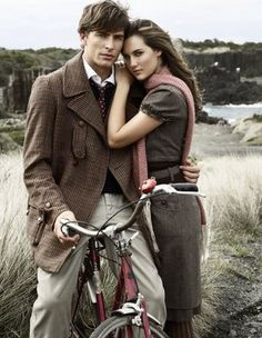 tweed looks great on both men and women. these would be great outfits for an engagement session!