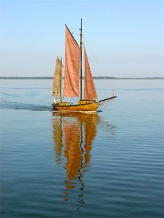 Boat on Saaler Bodden, great place on the Baltic Sea (Fischland-Darss-Zingst), #Darss #Bodden #ZeesBoot