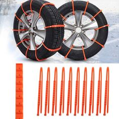10Pcs Winter Anti-skid Chains for Snow