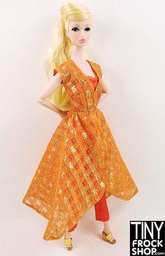 Barbie Vintage #946 Dinner At Eight Dress, Jumpsuit and Shoes - ain't it gorgeous?? Get it at Tinyfrockshop.com