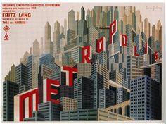 Metropolis movie poster - French style