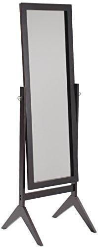 Crown Mark Cheval Mirror, Brown