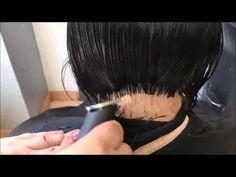 como hacer corte bob con la nuca alta - YouTube