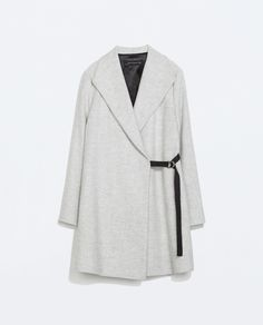 Image 7 of COAT WITH WIDE COLLAR from Zara