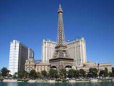 Las Vegas..paris hotel with replica of eiffel tower