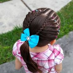 𝑷𝒆𝒊𝒏𝒂𝒅𝒐𝒔 𝒑𝒂𝒓𝒂 𝒏𝒊𝒏̃𝒂𝒔 - Top Newest Hair Design Cute Hairstyles For Kids, Girls Natural Hairstyles, Baby Girl Hairstyles, Baddie Hairstyles, Trendy Hairstyles, Braided Hairstyles, Girl Hair Dos, Girls Braids, Toddler Hair