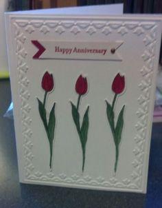 Stampin'Up Anniversary card. Backyard Basics