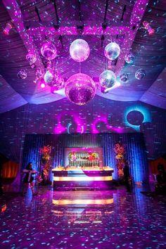 Wedding Reception Lighting, Wedding Reception Decorations, Wedding Venues, Reception Ideas, Uplighting Wedding, Disco Party Decorations, Wedding Ideas, Disco Theme Parties, Wedding Ceremony