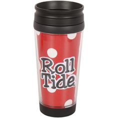 Alabama Crimson Tide 16oz. Polka Dot Travel Tumbler - Crimson