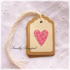 Valentine's Day Heart Tags .... Elegant by SweetlyScrappedArt