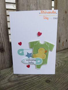Something for baby ; Stampin Utopia Voor het bestellen van Stampin Up scrapbook en kaarten materialen