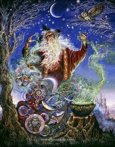Peinture féerique de Joséphine Wall