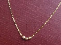 Trio  Faceted Goldfill Beads Necklace.