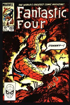 FANTASTIC FOUR 4 #263 John Byrne, Franklin Richards; Vision; Mole Man, The Thing, Human Torch, Mr Fantastic, Invisible Girl,