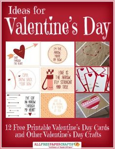 FREE e-Book: 12 Printable Valentine's Day Cards and Crafts! #crafts #valentinesday