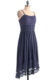 Ease of Elegance Dress in Blue. Look comfortable and cute.